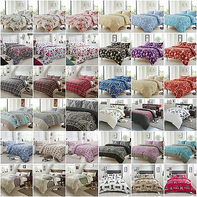 Duvet Cover Quilt Cover With Pillow Case Bedding Set Single Double King All Size