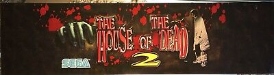 """House of the Dead 2 Arcade Marquee 30""""x8"""""""