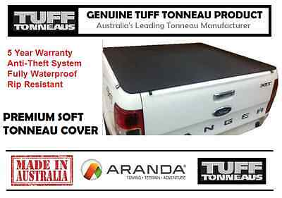 Soft Tonneau Cover (Clip On Type) FORD PX RANGER DUAL CAB (11-16)