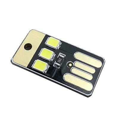 Portable Mini universal USB Laptop 3 LED Light Pocket Card Night Lamp Black AD