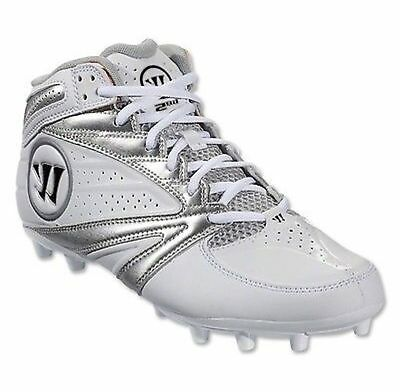 Warrior Men's 2nd Degree 3.0 Lacrosse Cleats Sz 11.5 NEW WMSSM3WT White/Silver