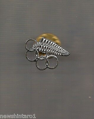 #d204.  New Zealand  Fern & Rings  Badge Made For  Olympic Games