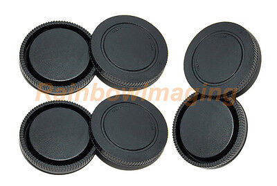 3 x Lens Rear Caps and Body Caps for Sony a6300 a6100 a6000 a5100 NEX-5T a7