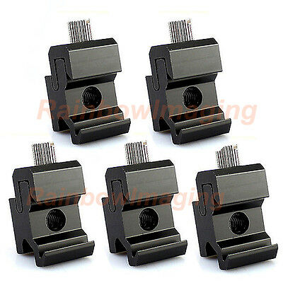Metal Cold Shoe Flash Stand Adapter with 1/4-inch -20 Tripod Screw x 5 packs