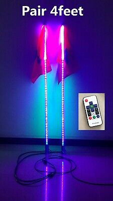 2Pieces 4feet Dream Color 300LED Quick Connect Release Mount Chasing Whips Light