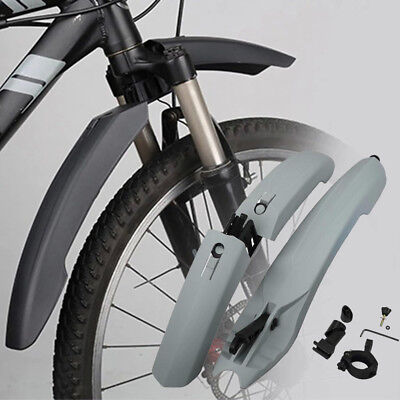 Removable Bicycle Cycling Front Rear Set LED Mudguards Mountain Bike Fenders SN