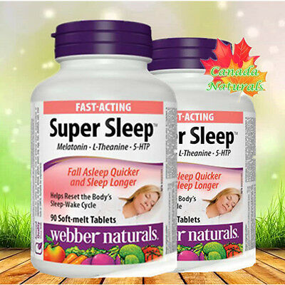 webber naturals Super Sleep Twin Pack (2 x90 Soft melt tablets )