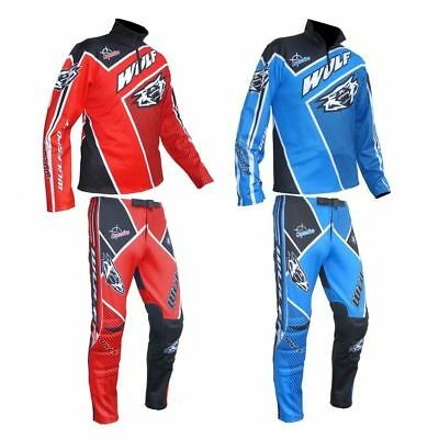 Wulfsport Wulf Trials Top + Trial Pants Trousers Adults