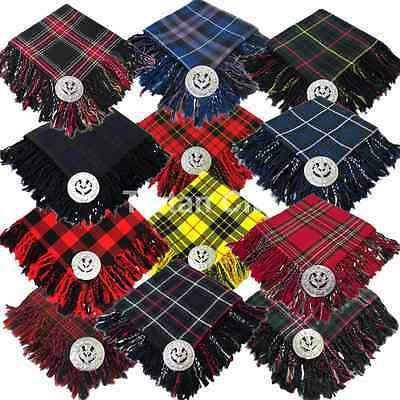 Men's Kilt Fly Plaid With Thistle Brooch - 12 Tartans