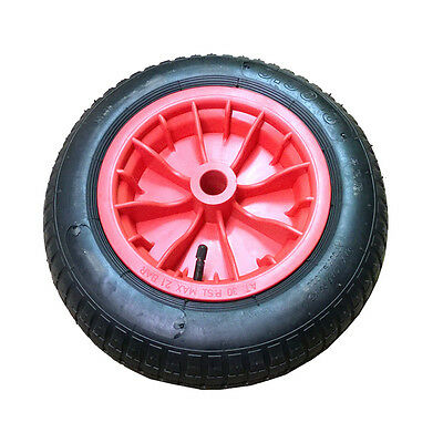 """4x 14"""" Wheelbarrow Wheel Pneumatic Inflatable Tyre 3.50-8 REPLACEMENT RED UKDC"""