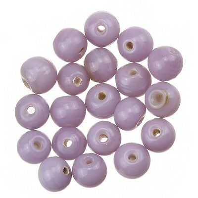 Shiny Lilac Round Glass Beads 6mm Pack of 20 E83//1