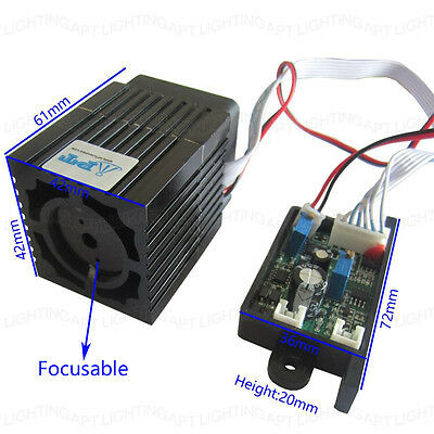 High Quality 12V 300mW 532nm green laser module + Focusable TTL continuous work