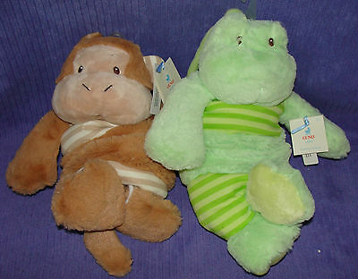 New Gund Musical Pulldown Monkers Monkey Frogers Frog Nwt ~ Cf
