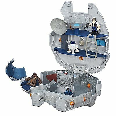 NEW Heroes Star Wars Galactic Heroes Millennium Falcon And Figures By Playskool