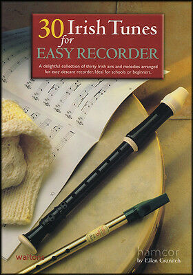 30 Irish Tunes for Easy Recorder Sheet Music Book