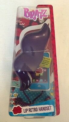 NEW Bratz Lip RETRO CELLPHONE HANDSET Works On Any Cell Phone PURPLE COLOR