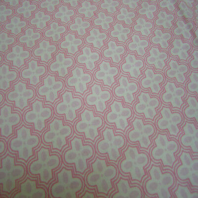 Girls Pink Patterned Single Fitted Sheet Set