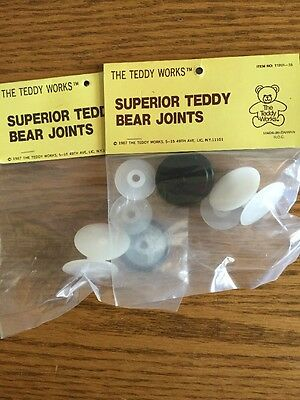 The Teddy Works Superior Teddy Bear Joints 4 Sets NIP
