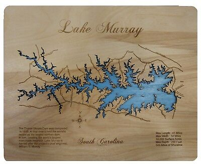 KY Map Standout WALL ART Wooden Cut Engraved Small GREEN RIVER LAKE