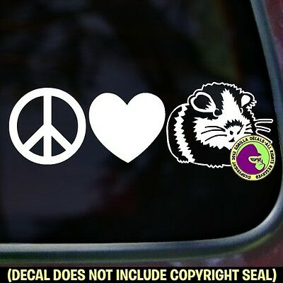 Peace Love Guinea Pig Vinyl Decal Sticker Cavy Pigs Love Car Window Wall Sign