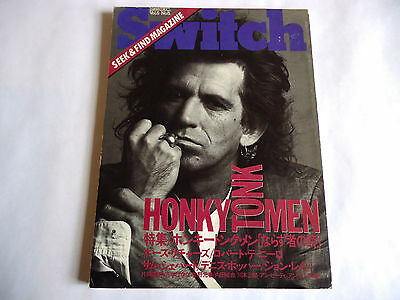 KEITH RICHARDS Japan Magazine SWITCH 12/1988 Rolling Stones Dennis Hopper