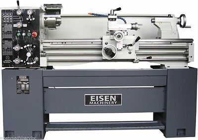 """EISEN 1440E 14"""" x 40"""" Precision Engine Lathe with DRO, Made in Taiwan, 220V 3PH"""