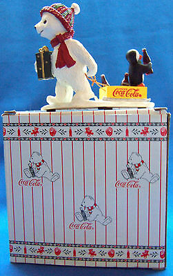 Coke 1996 Coca Cola Polar Bear Cubs #72023 To Grandmothers House Cub / Penguin
