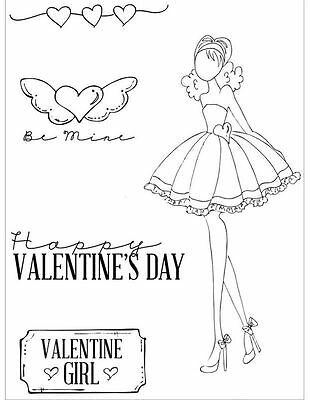 """BRAND NEW Prima Julie Nutting Cling Stamps /""""LOTS OF LOVE/"""" JUST IN! # 910488"""