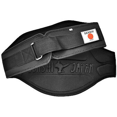Senshi Weight Lifting Belt Fitness Gym Bodybuilding Deadlift Lumbar Support