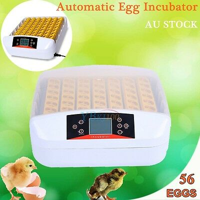 56 Egg Incubator Digital LED Fully Automatic Turning Chicken Duck Eggs Poultry