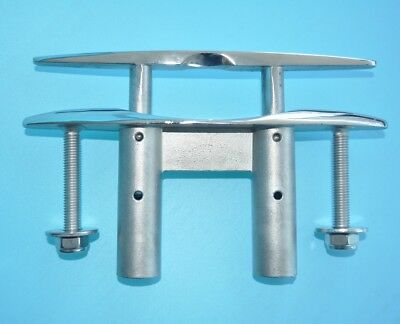 """5"""" 125mm 316 STAINLESS STEEL PULL-UP CLEAT/ POP-UP FLUSH MOUNT LIFT- Boat/Marine"""