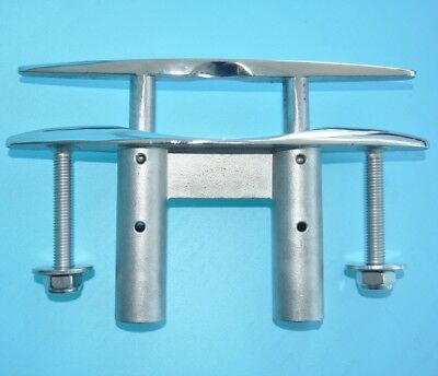 """8"""" 200mm 316 STAINLESS STEEL PULL-UP CLEAT/ POP-UP FLUSH MOUNT LIFT- Boat/Marine"""