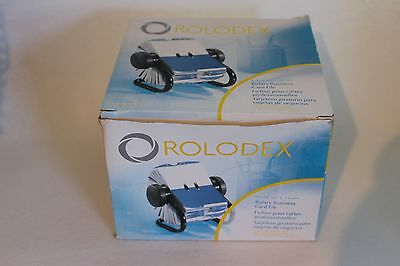 Rolodex 67236 Rotary Business Card File 200 Sleeves A-Z Indexed Tabs  New