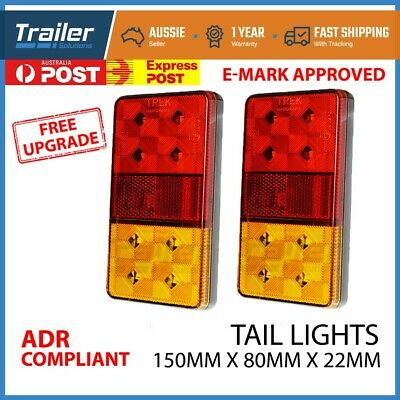1.2M - 1.4M extendable LED Trailer Tail Light Cable Board Boat 7 PIN Plug Flat