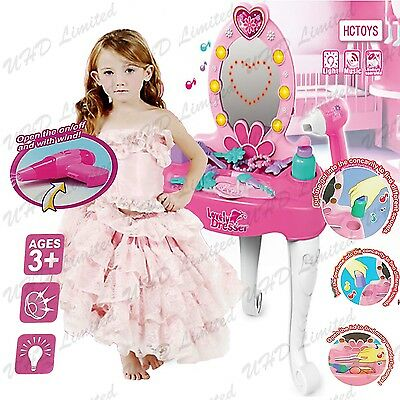 Children Kids Princess Dressing Table Roleplay Makeup Vanity Girls Xmas Gift Toy