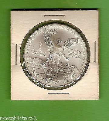 1991 Mexico One Oz  Onza Silver  Coin