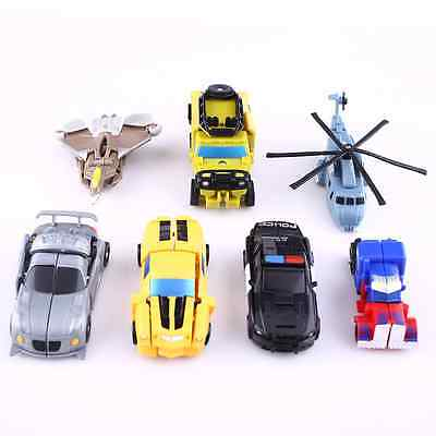 7Pcs Transformation Transformer Robot and Cars Toys Christmas Kids Child Gift AU