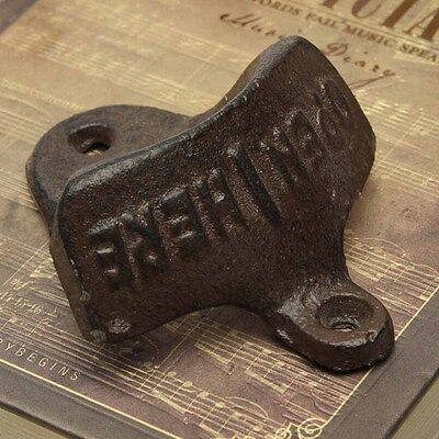 2017 Cast Iron Vintage Rustic Style Collectable Wall Mounted Beer Bottle Opener