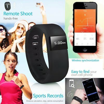 Bluetooth Smart Bracelet Step Watch Pedometer Sport Healthy Tracker IOS Android