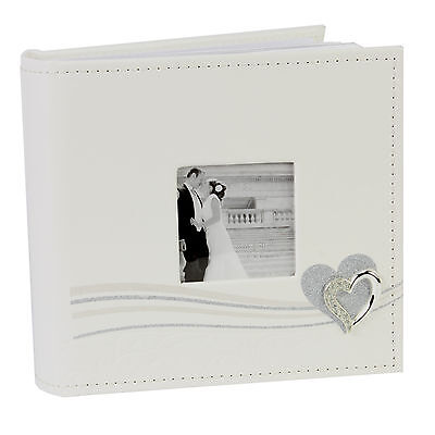Wedding Album Glitter Line/Heart Icon Holds 80 Photos  Gift Idea NEW  20286