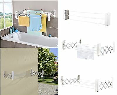 Leifheit Teleclip 100 Wall Mounted Concertina Airer Indoor Outdoor Clothes Dryer