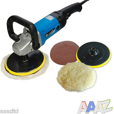 Silverline DIY 1200W Sander Polisher 180mm car polish buff shine High Quality