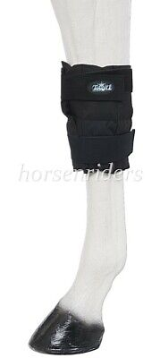 Horse Ice Therapy Knee-Hock Wrap - Black - Sold as One