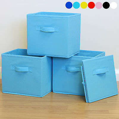 Foldable Square Fabric Storage Box Drawer Toys/Books/Clothes Shelving Organiser