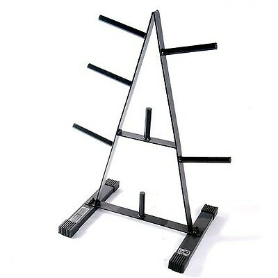 Cap Barbell Standard Gym Plate Rack Home Storage Holder Tree Weights Stand New!