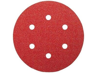 Bosch RS1402 6 Sanding Discs 5 Hole 400g Hook Loop 25 PK for Sander Polisher