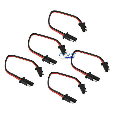 5X Car Quick Disconnect Connect 10 Gauge 2 Pin SAE Waterproof Wire Harness Plug