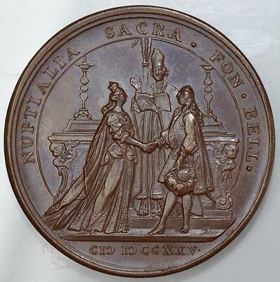 France / Poland - 1725 marriage of Louis XV to Marie Leszczynska medal