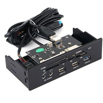 USB 3.0 EasySMX 5.25 Inch PC Front Panel Multifunctional Internal Card Reader