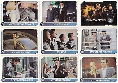 Fantastic Four 4 Movie Celz 2005 Cards Inc Base Card & Insert Set 60 + 12 Marvel